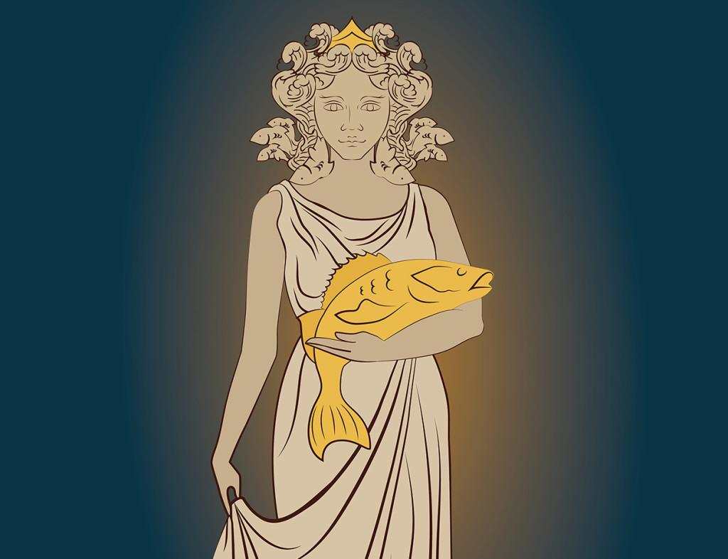 Богиня Нерестина - символ базы отдыха